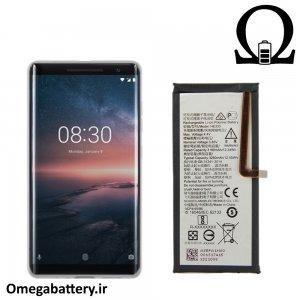 قیمت خرید باتری اصلی نوکیا Nokia 8 Sirocco - HE333