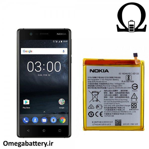 قیمت خرید باتری اصلی نوکیا Nokia 3 - HE319