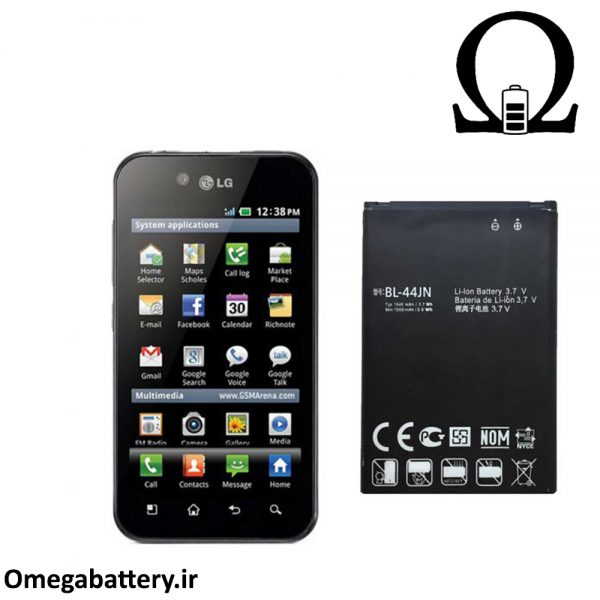 قیمت خرید باتری اصلی گوشی ال جی LG Optimus Black P970 (BL-44JN) 1