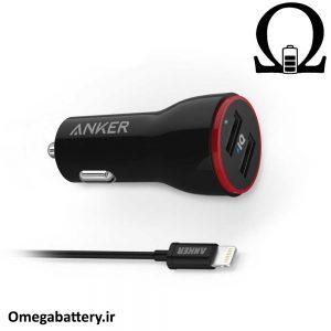 قیمت خرید شارژر فندکی آیفون مدل Anker Powerdrive 2 1