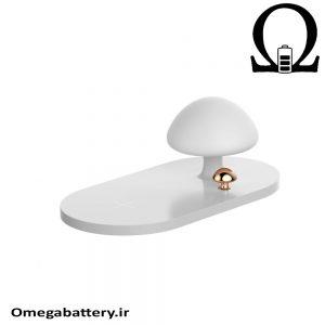 قیمت خرید شارژر وایرلس اصلی Baseus Mushroom Lamp Desktop