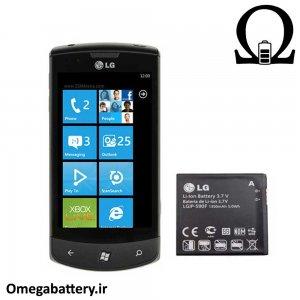 قیمت خرید باتری اصلی گوشی ال جی LG E900 Optimus 7